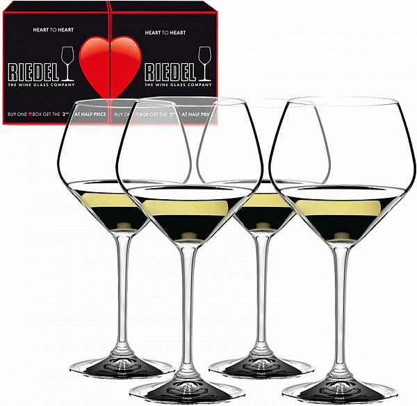 Riedel Heart to Heart Chardonnay (4 glasses set)